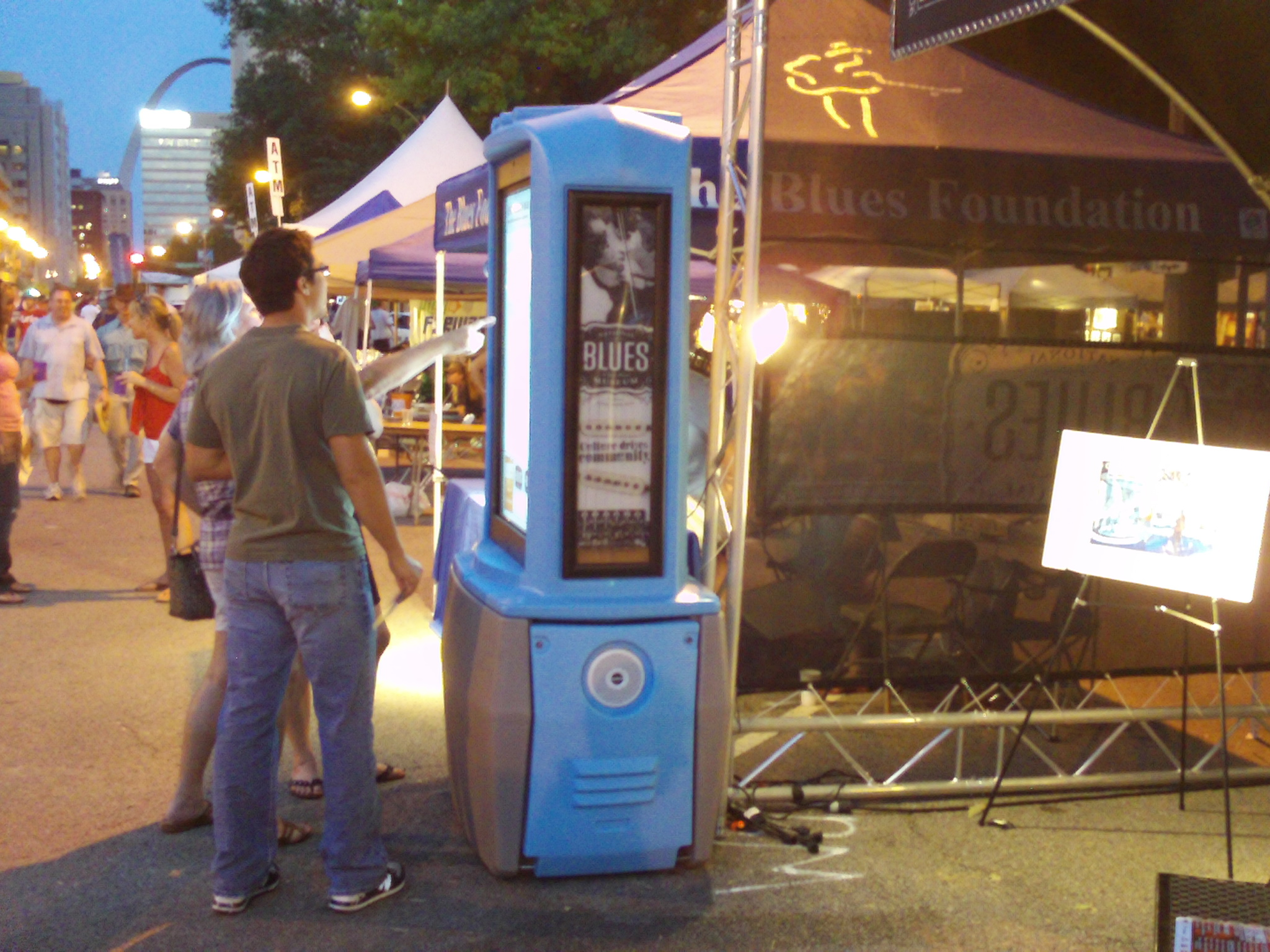 Blues Museum Kiosk at Bluesweek festival 2012